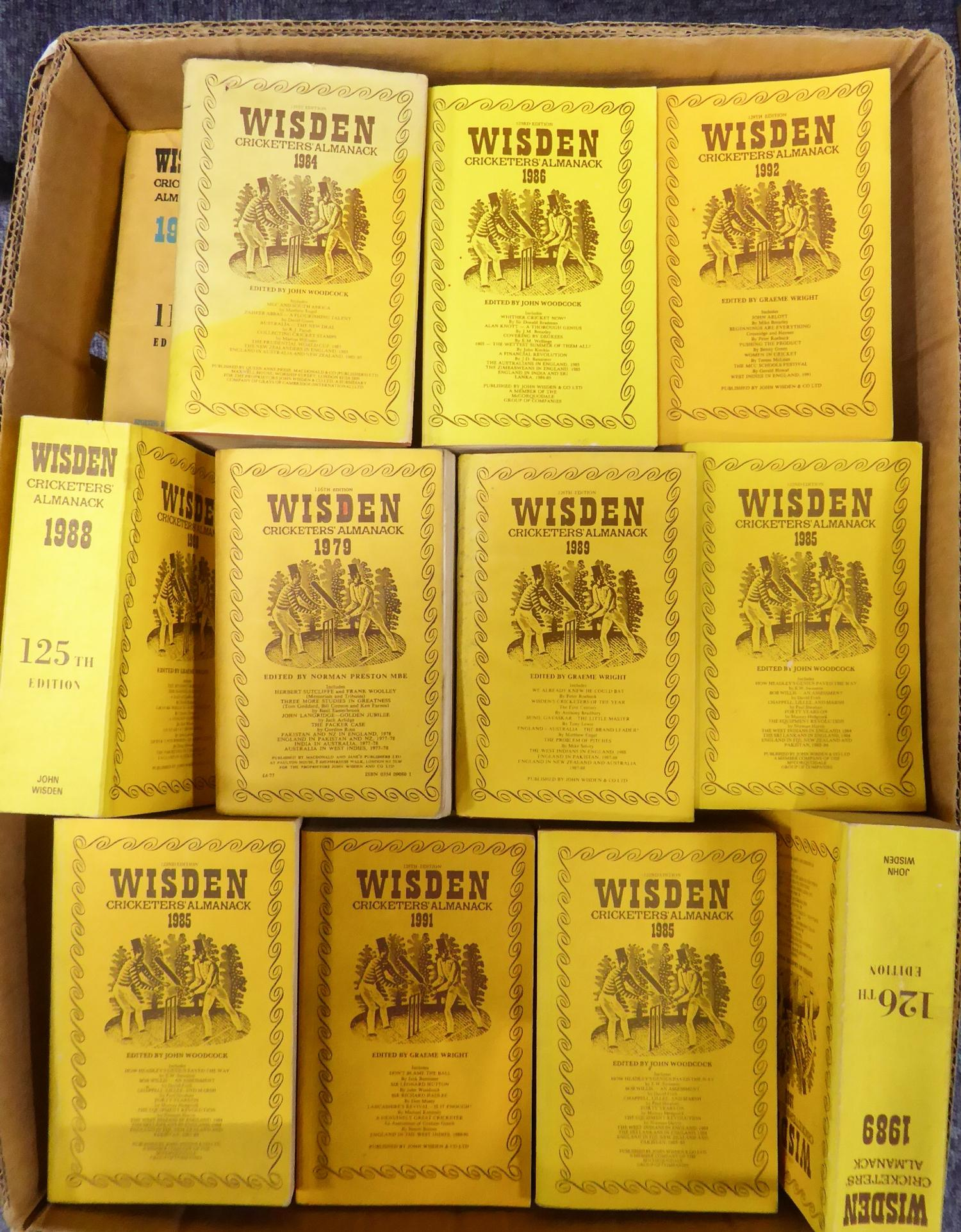 Lot 148 - WISDEN CRICKET ALMANACK EDITIONS, various editions in both paper- and hardback, ranging from 1975