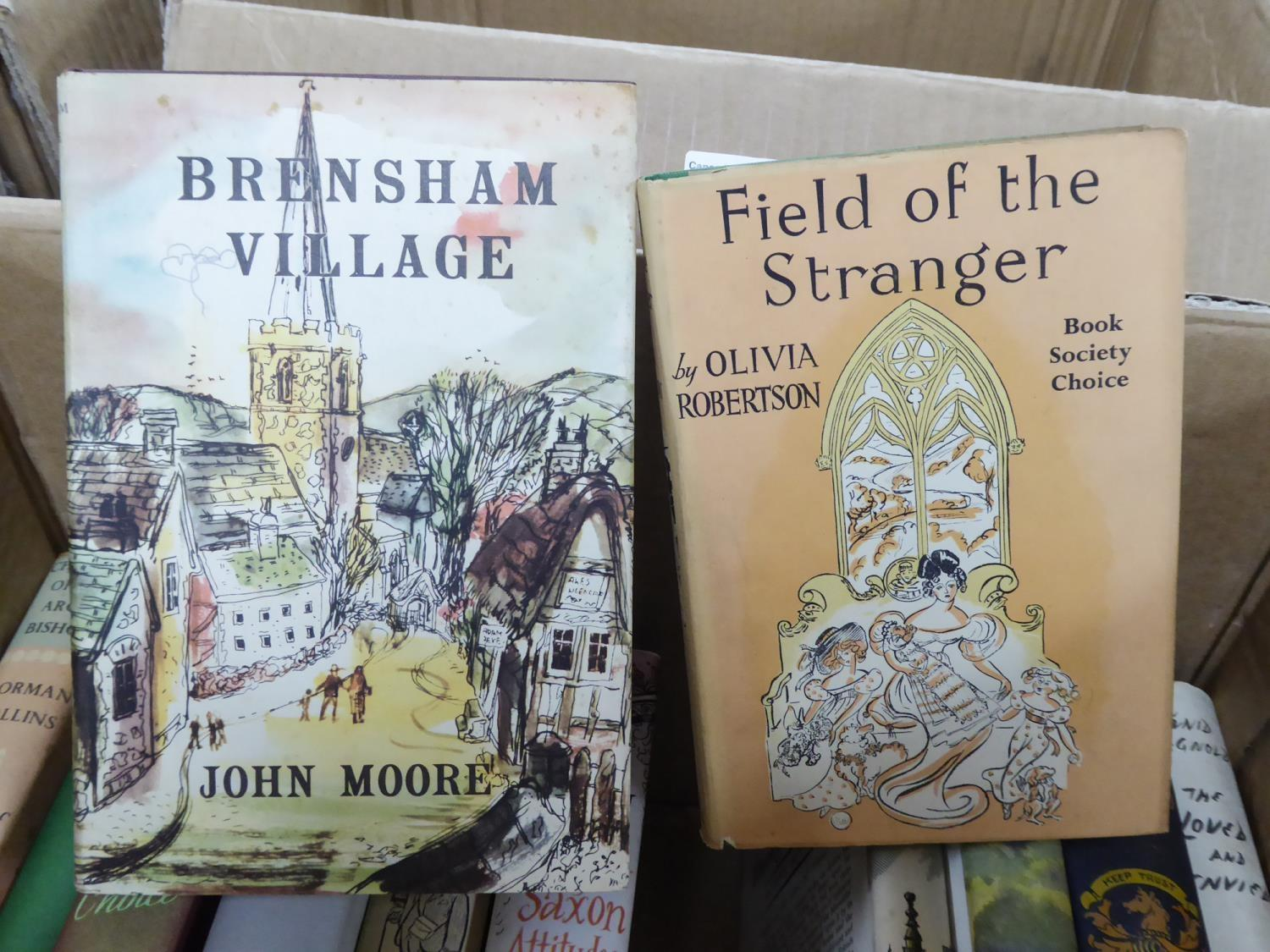 Lot 33 - SMALL SELECTION OF SIGNED MODERN FICTION TITLES, all in dust jackets, many 1st editions, to