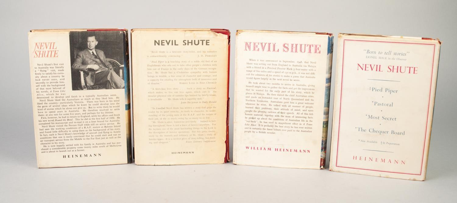 Lot 54 - NEVIL SHUTE, A SELECTION OF FOUR TITLES (3 signed), publised by Heinemann and the Book Society, A