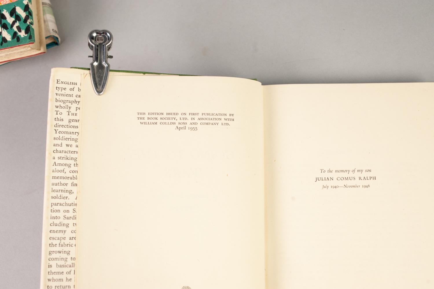 Lot 58 - SMALL QUANTITY OF SIGNED TITLES, all in dust jackets: JOHN VERNEY, Going to the Wards (1955); EDWARD