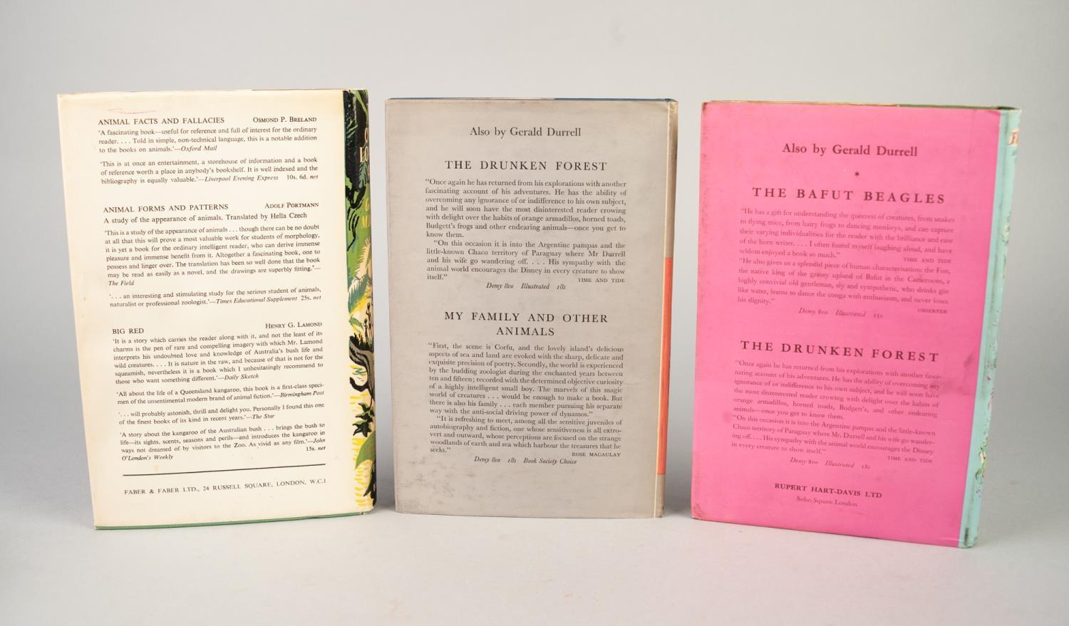 Lot 53 - GERALD DURRELL, MY FAMILY, PUBLISHED RUPERT HART DAVIS, 1956, 1st EDITION, SIGNED BY THE AUTHORS TO