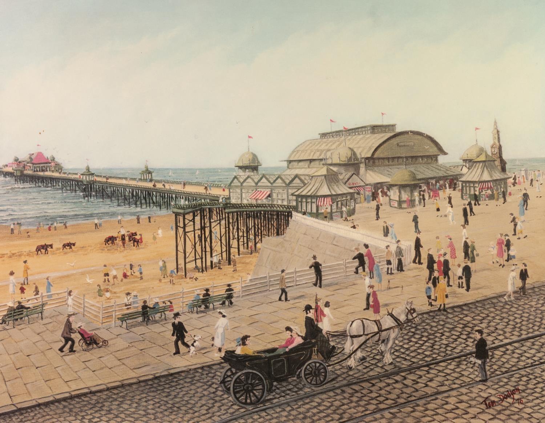 "Lot 277B - TOM DODSON TWO ARTIST SIGNED COLOUR PRINTS 'Victoria Pier', Blackpool 13 ¾"" x 17 ¾"" (35cm"