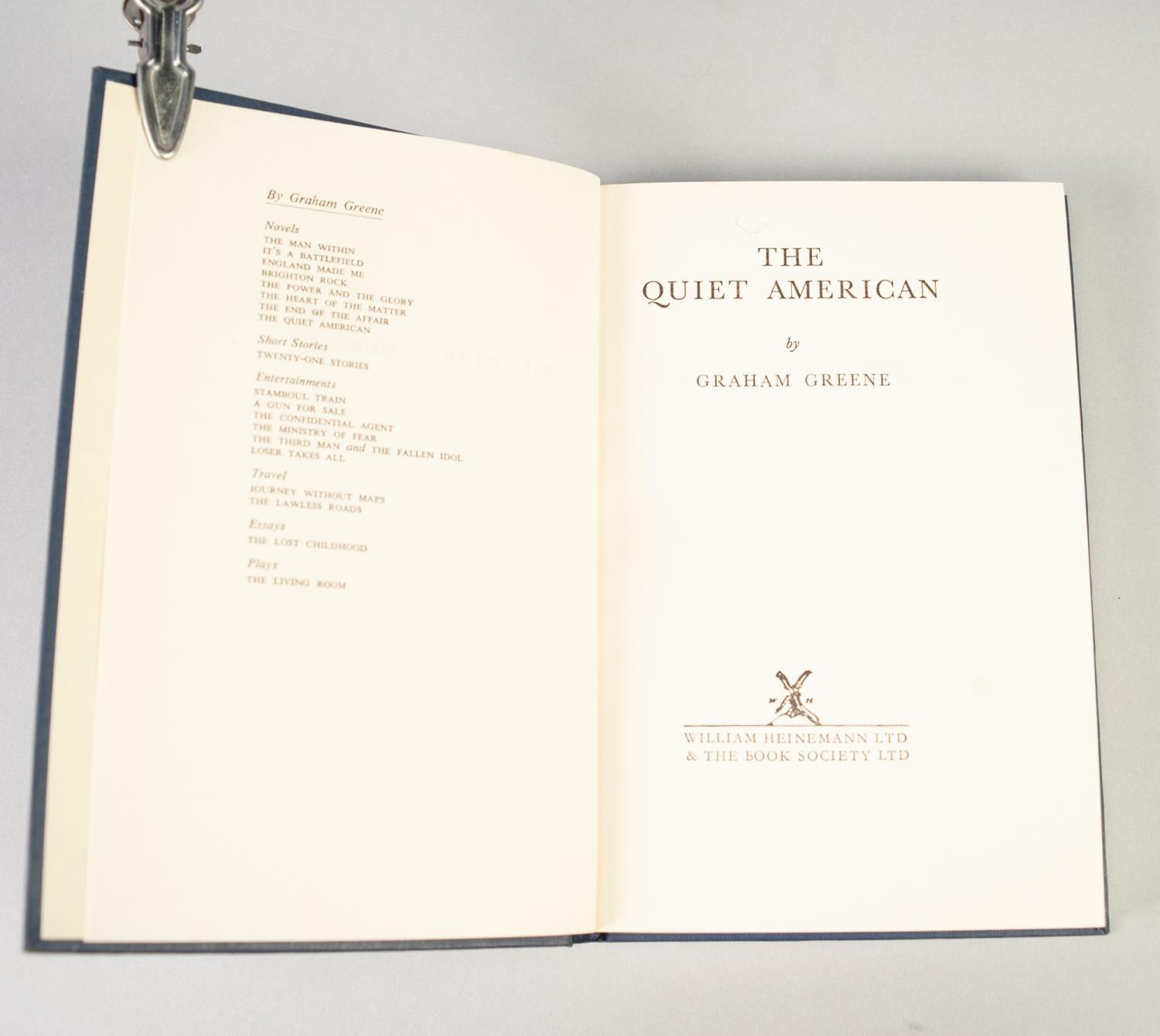 Lot 43 - GRAHAM GREENE, THE QUIET AMERICAN, issued on first publication by the Book Society Ltd. in