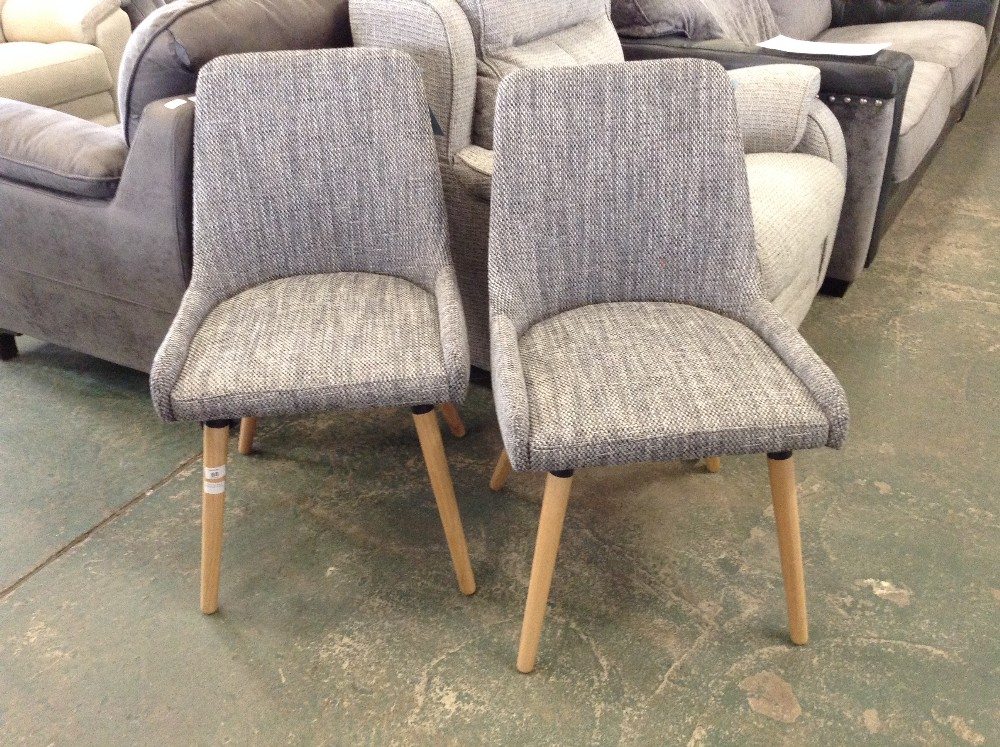 Lot 68 - Home Etc Kaitlyn Dining Chair x2( - 12224/1)