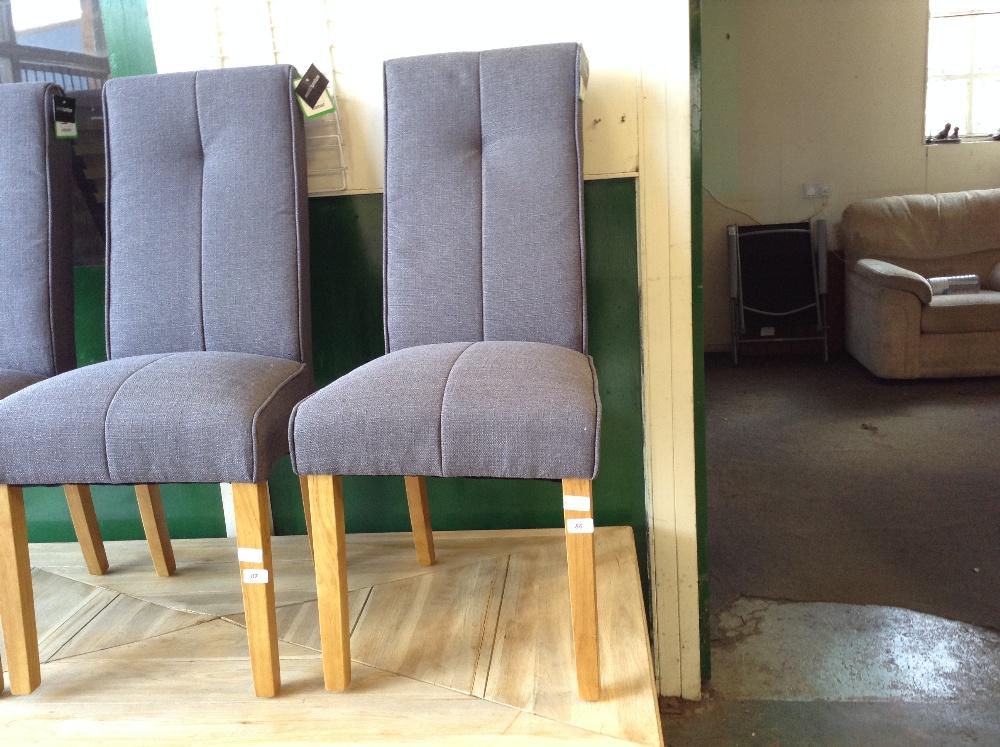 Lot 86 - All Home Denver Upholstered Dining Chair x1 (HVW7669 - 12234/8)