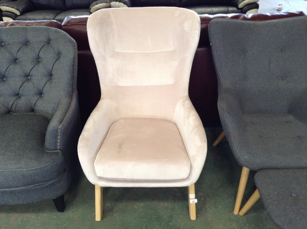 Lot 105 - Castleton Home Eslov Wingback Chair (CCOP4146 - 12203/3)