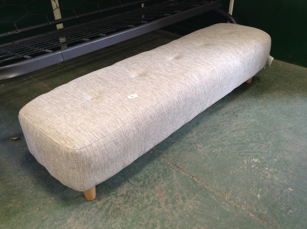Lot 76 - GREY LARGE FOOTSTOOL