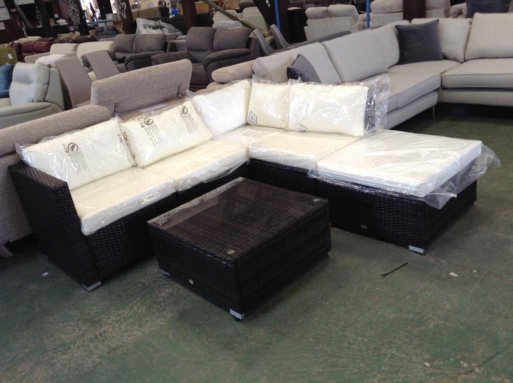 Lot 70 - Sol 72 Outdoor Gerardi 6 Seater Rattan Sofa Set (SBKI1008 - 12435/8)