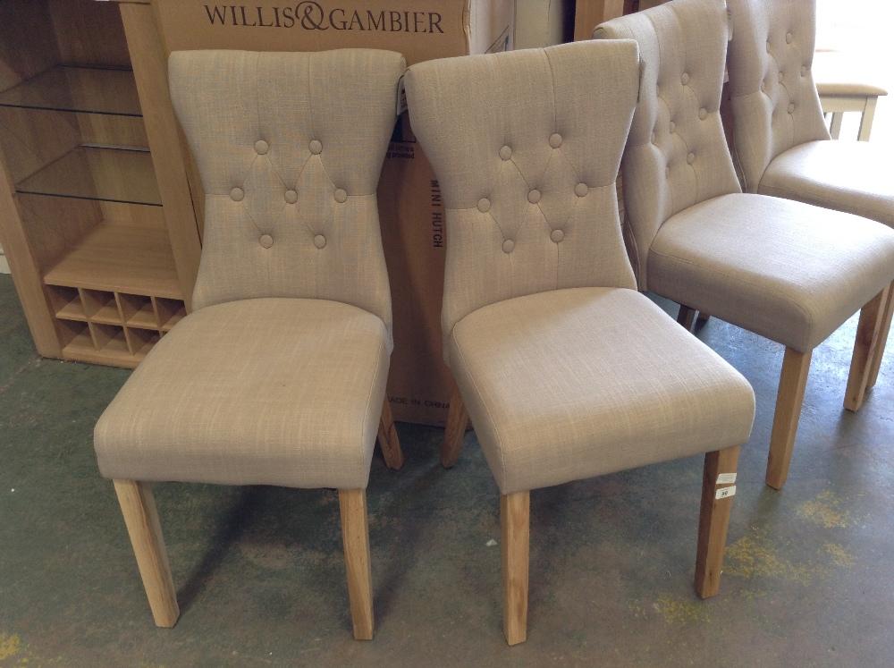 Lot 96 - Fairmont Park Wimbledon Upholstered Dining Chair X2 (HOHA1247 - 12157/6)