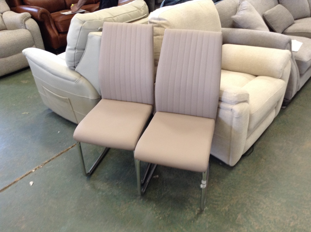 Lot 55 - Metro Lane Escondido Upholstered Dining Chair x2(HOKG3695 - 12157/16)