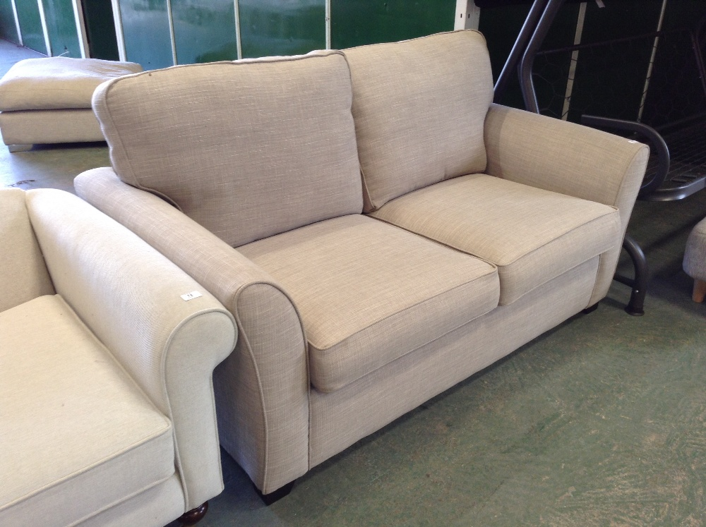 Lot 77 - BEIGE 2 SEATER SOFA