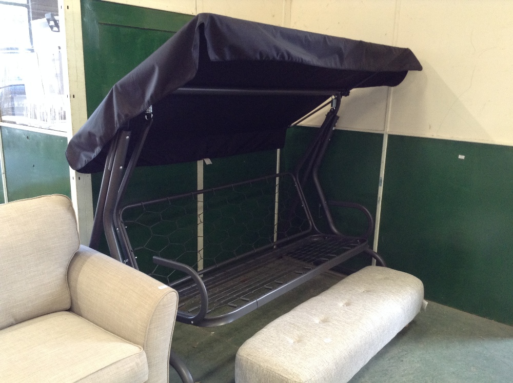 Lot 75 - Sol 72 Outdoor Mignault Swing Seat with Stand (MISSING PARTS)(FINT3003 - 12435/11)