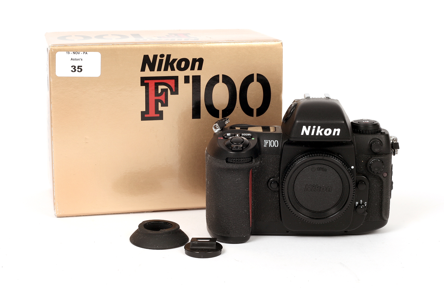 Lot 35 - Nikon F100 Camera Body #2306441. (Not firing, possibly due to slight corrosion in battery