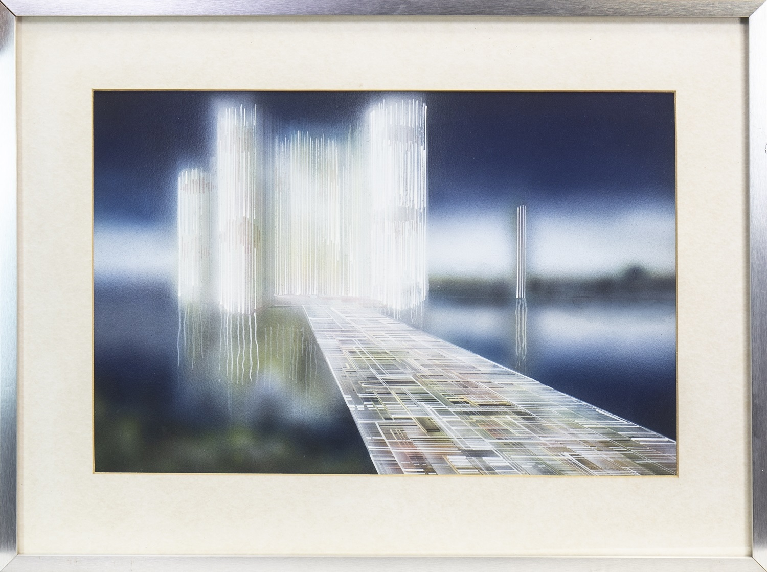 Lot 674 - THE GLASS CASTLE, A MIXED MEDIA BY KEN PALMER