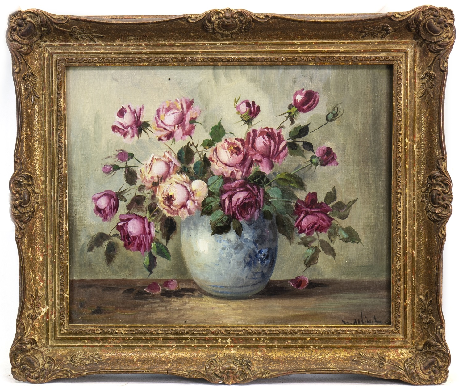Lot 641 - FLORAL STILL LIFE, IN THE STYLE OF ALFRED LEHMANN