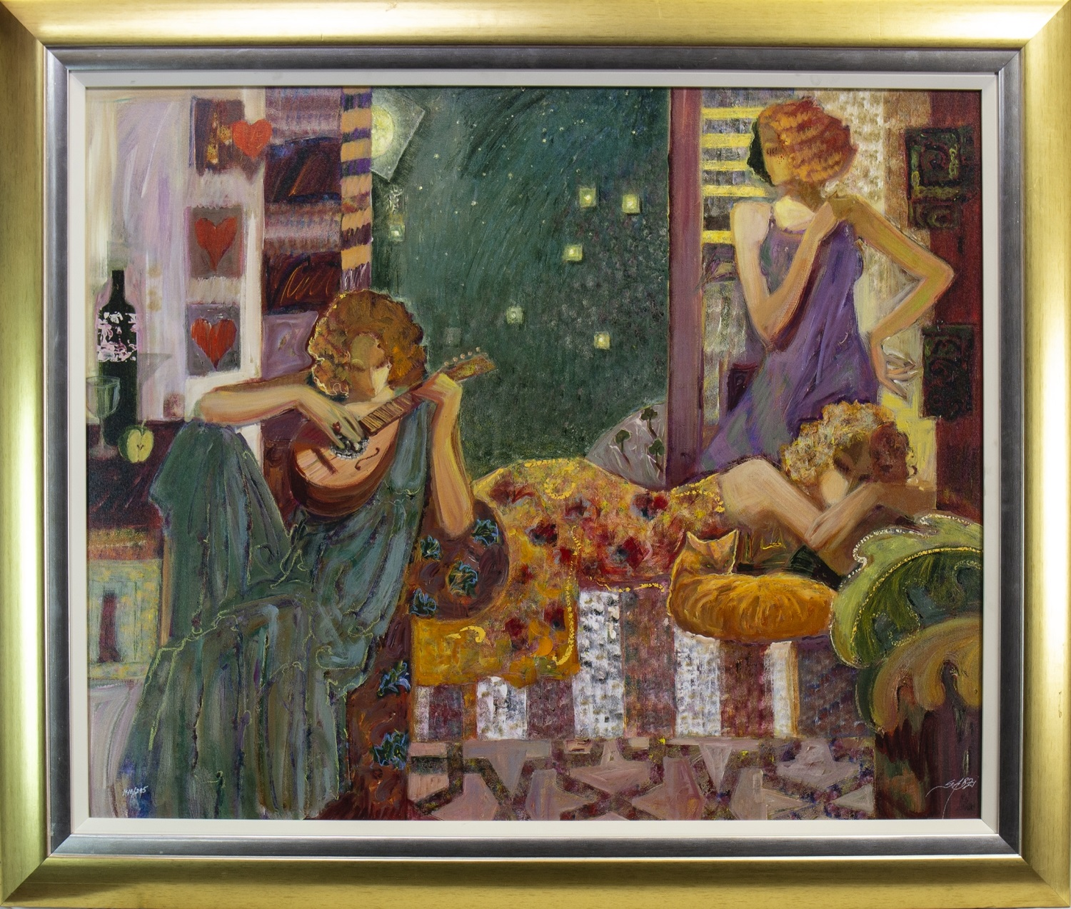Lot 662 - THE MUSES, AN OIL