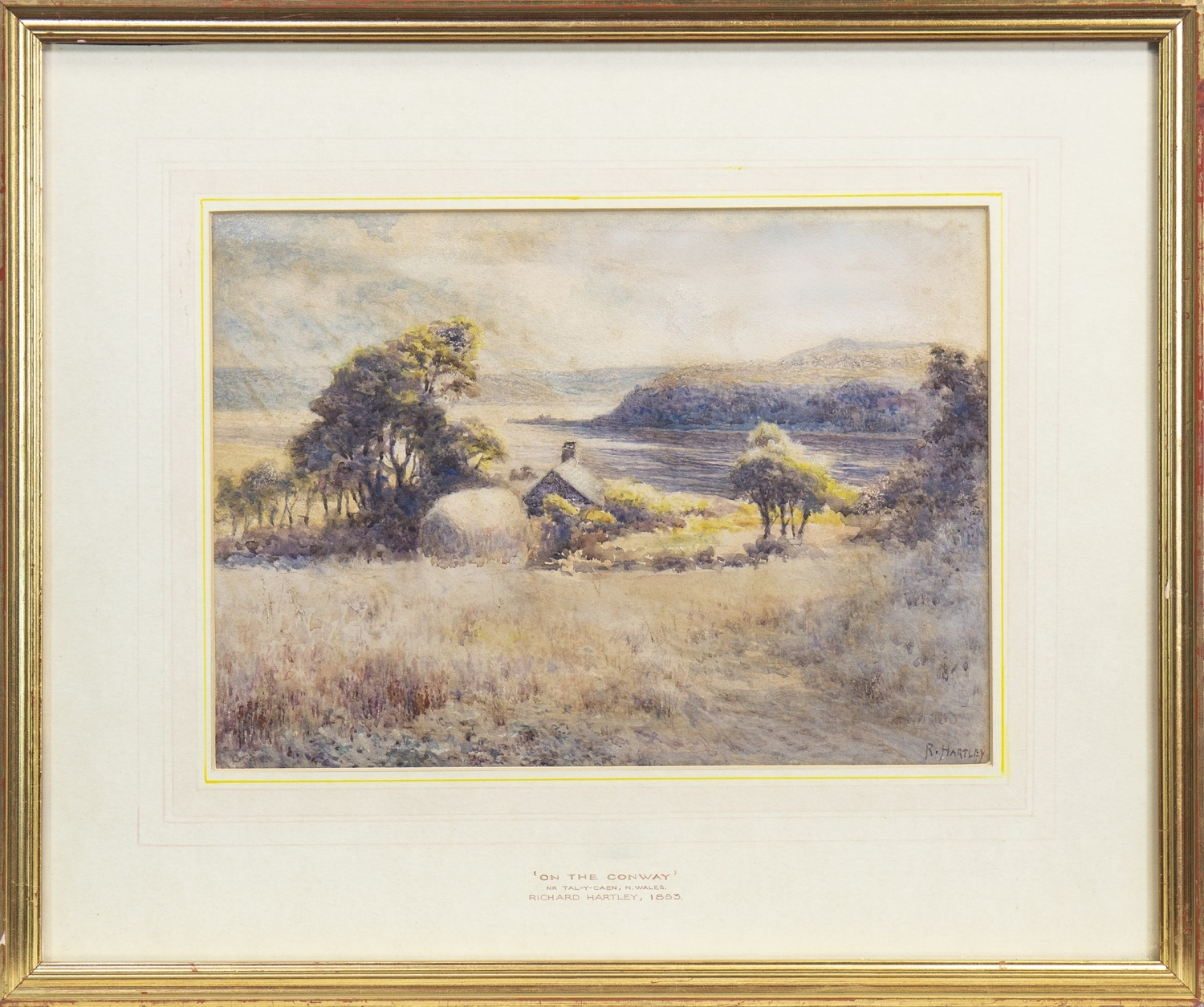 Lot 687 - ON THE CONWAY, NEAR TAL-Y-CAEN, N WALES, A WATERCOLOUR BY RICHARD HARTLEY