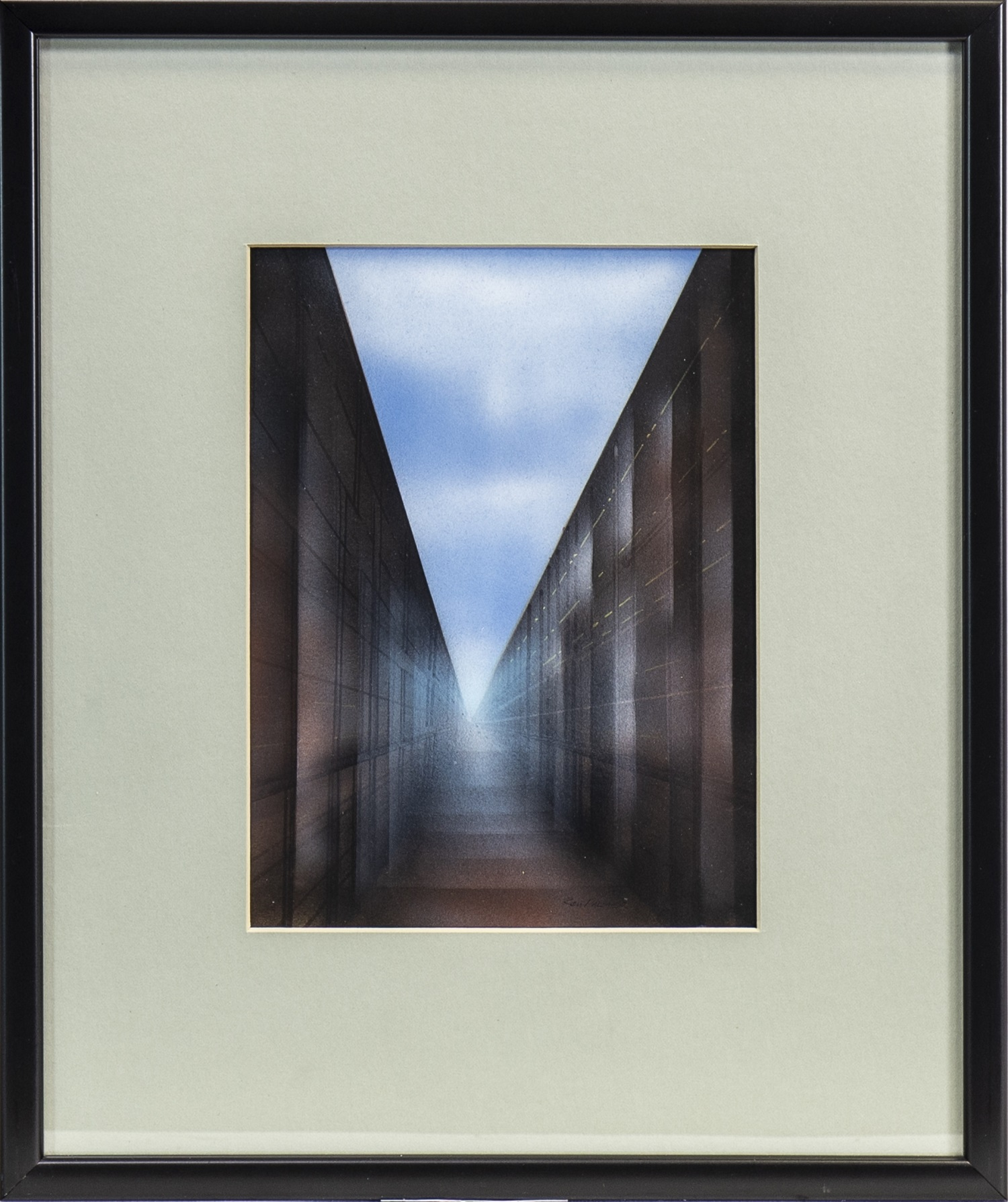 Lot 669 - THE WALLED PATH, A MIXED MEDIA BY KEN PALMER