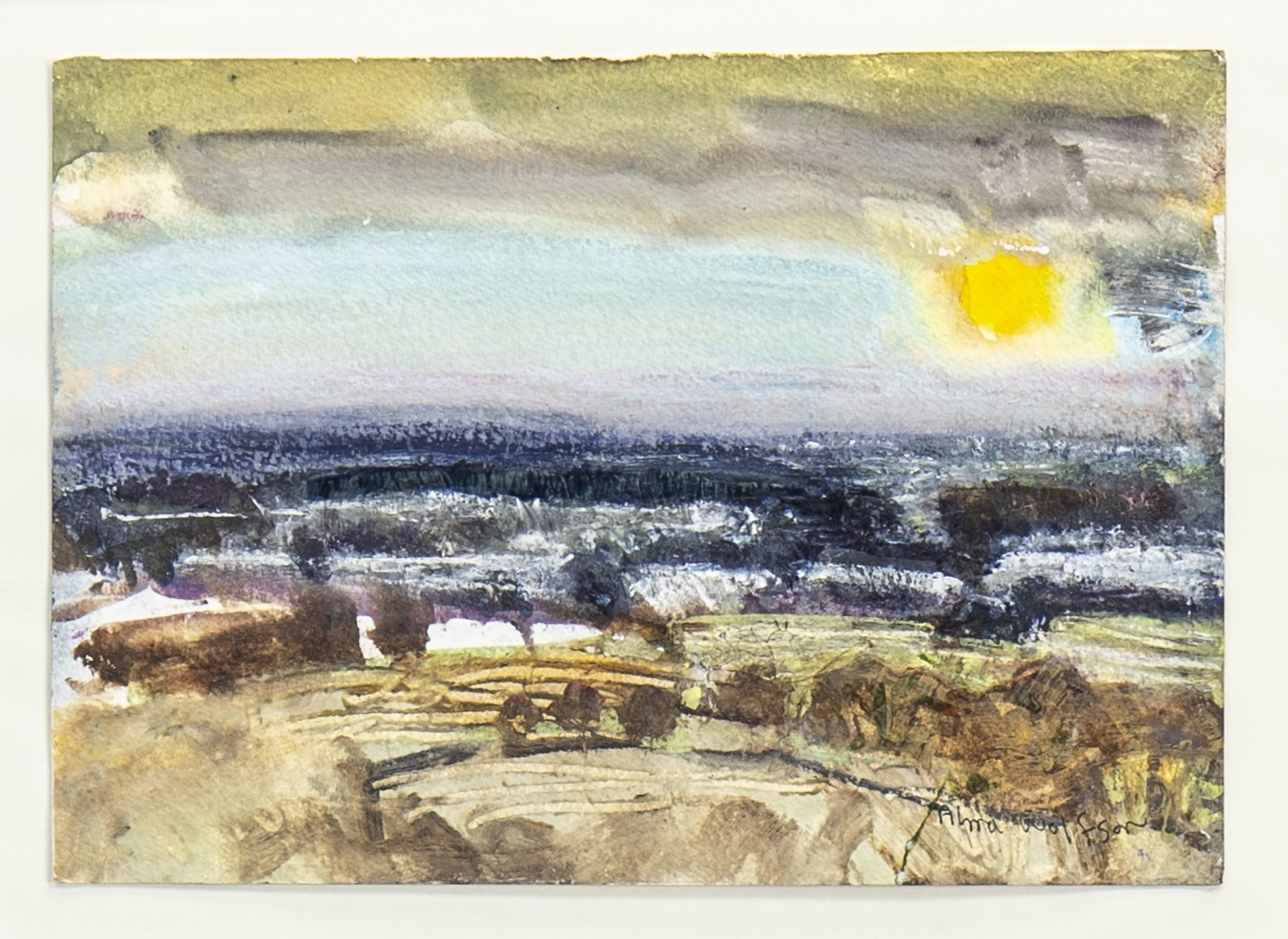 Lot 625 - BEYOND KILLEARN, A MIXED MEDIA BY ALMA WOLFSON