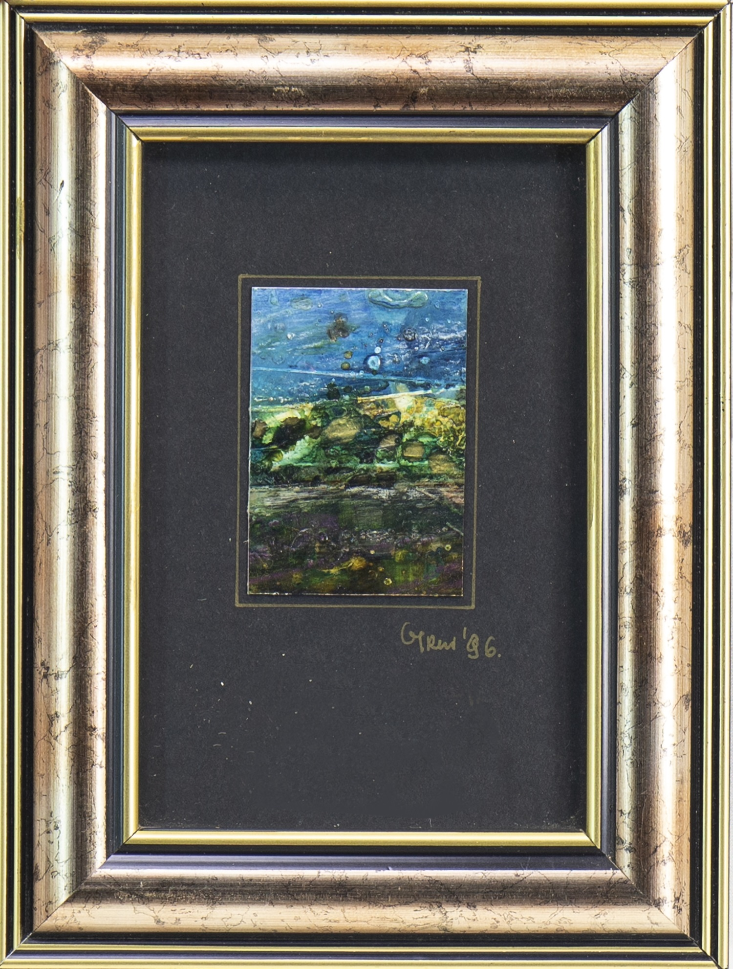 Lot 609 - ROCKPOOL BLUE, A MIXED MEDIA BY GABRIELLE TRYNKLER