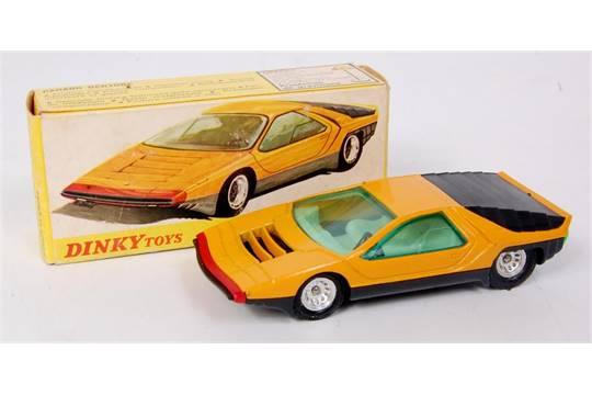 french dinky toys 1426 alfa romeo carabo p33 orange yellow body