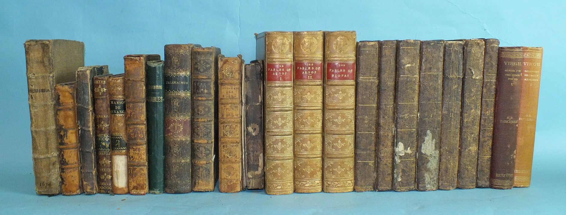 Lot 4 - Bindings, a quantity of 18th and 19th century leather-bound books and others, later.