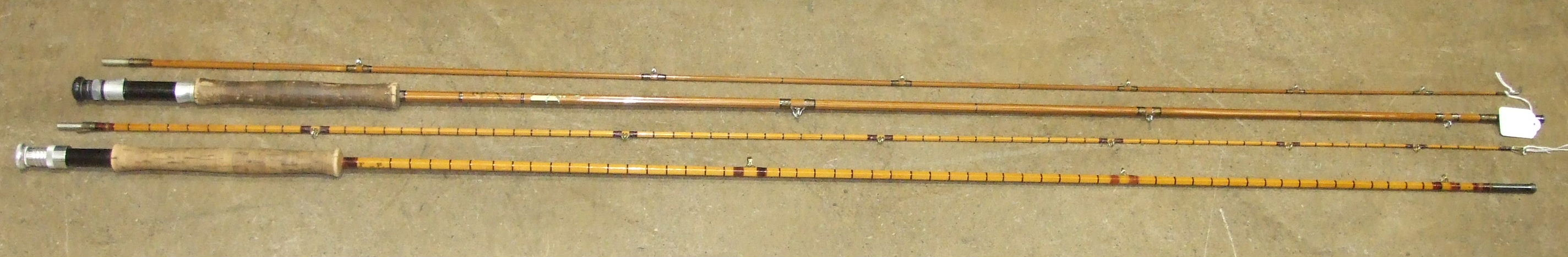 """Lot 426 - A Hardy's 10' two-piece split-cane trout fly rod """"The Pope"""", with alloy reel fittings and integral"""