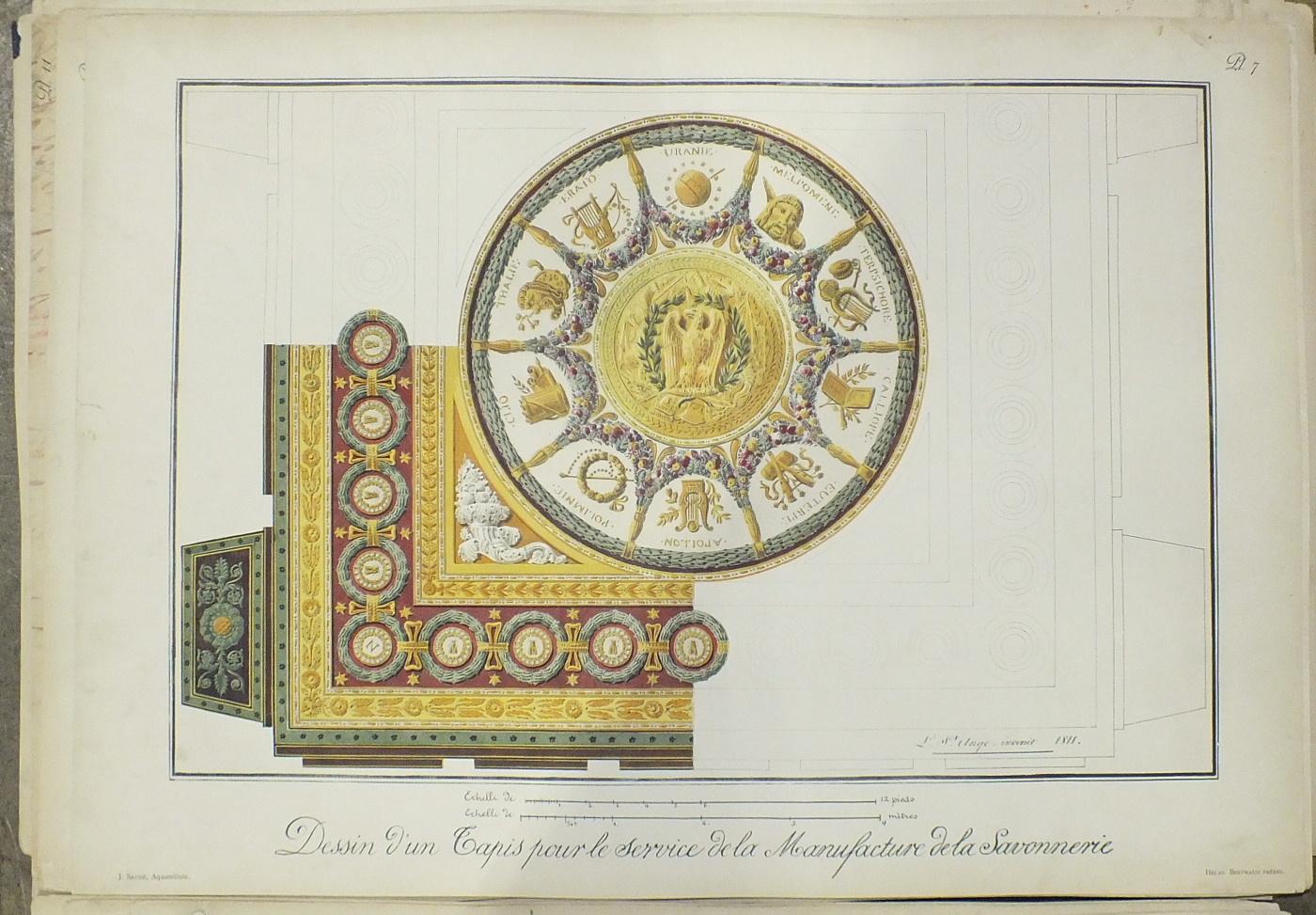 Dumonthier (Ernest), Recueil de Dessins de Tapis et de Tapisseries d'Ameublement du Mobilier de la - Image 3 of 3