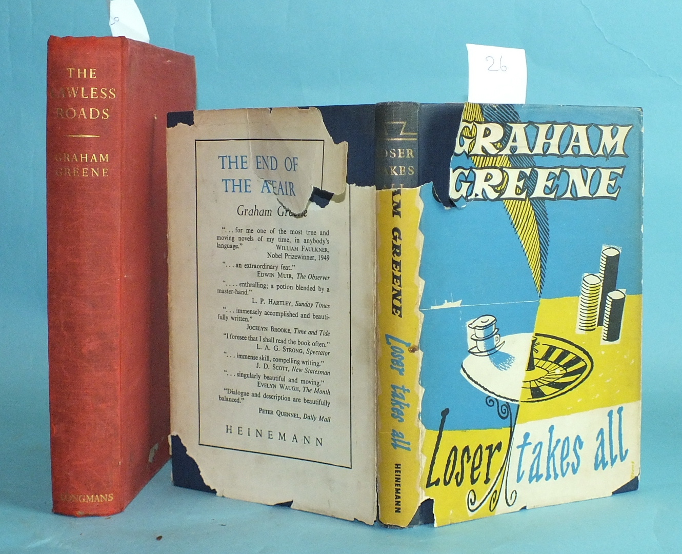 Greene (Graham), The Lawless Roads, 1st Edn, 1st State, no dwrp, red cloth with gold lettering, 8vo,