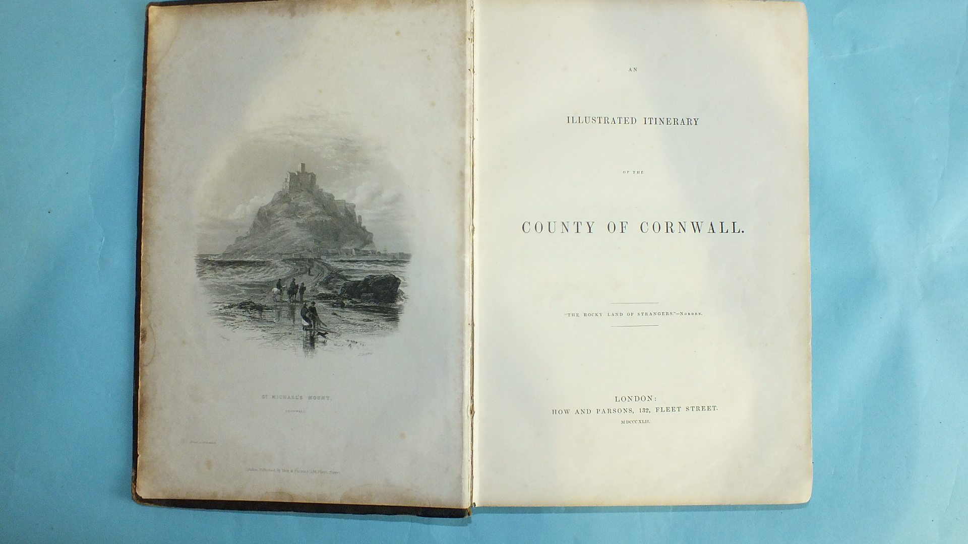 Lot 36 - Redding (Cyrus), An Illustrated Itinerary of the County of Cornwall, engr frontis, no map, plts,
