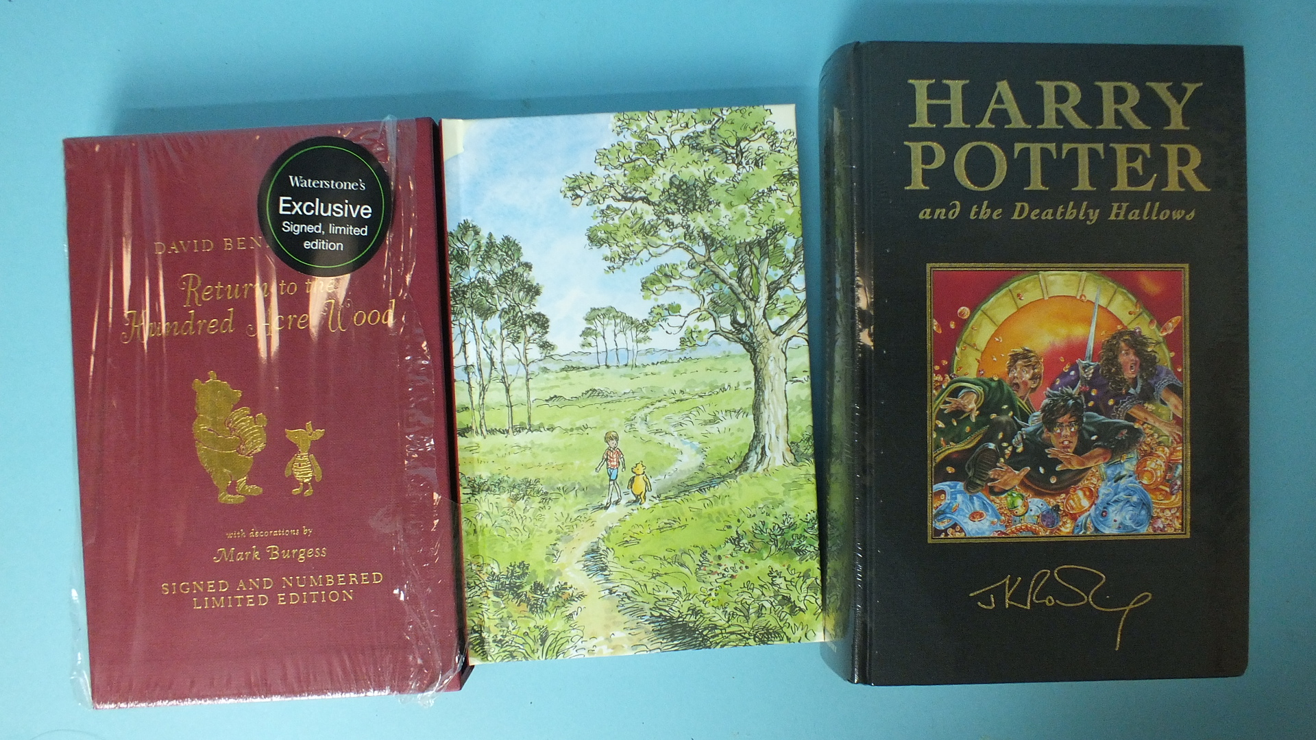 Lot 15 - Rowling (J K), Harry Potter and the Deathly Hallows, 1st edn, in unopened plastic cover; pic cl