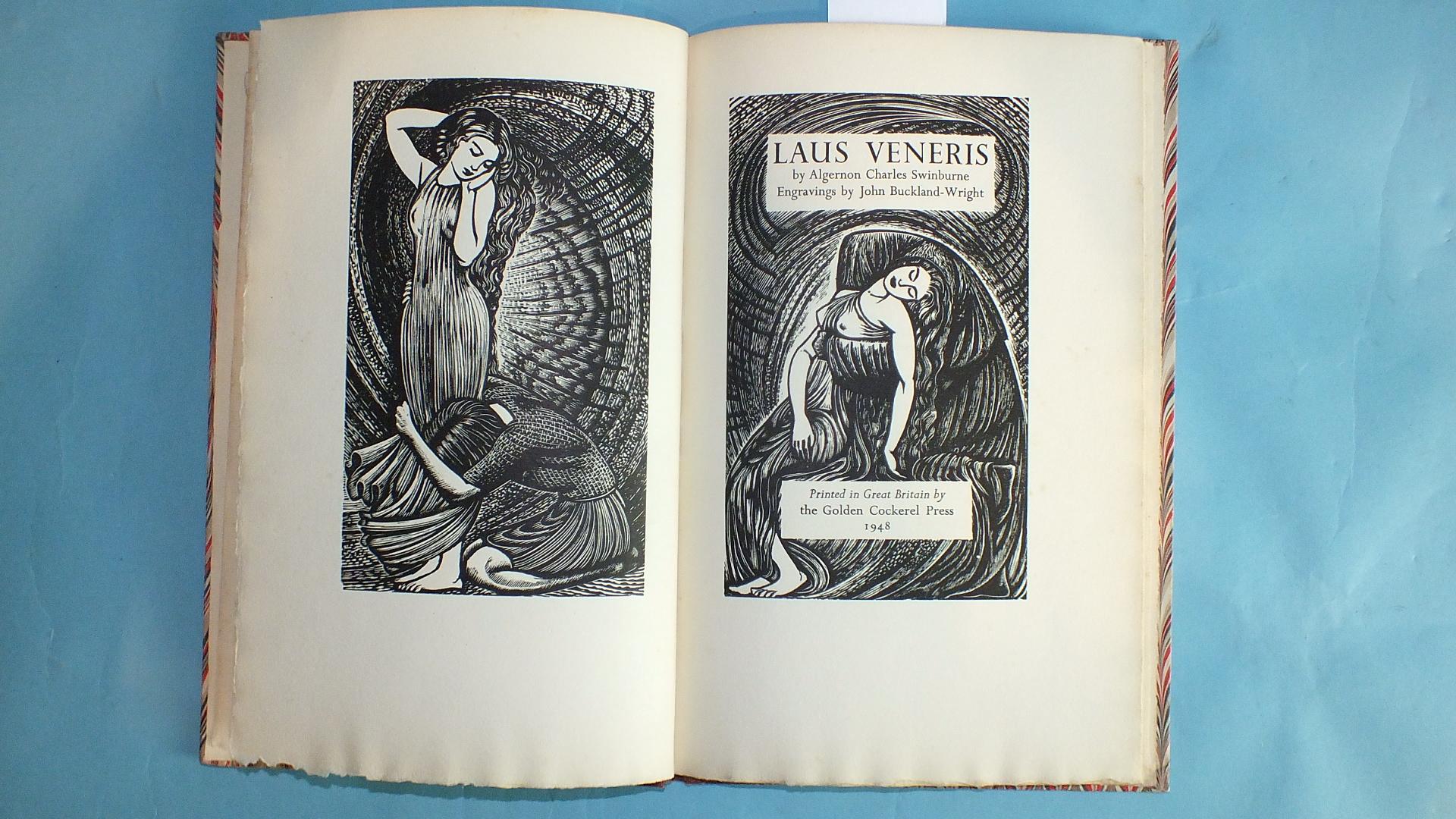 Lot 27 - Golden Cockerel Press, Swinburne (Algernon Charles), Laus Veneris, wood engr tp and illus by John