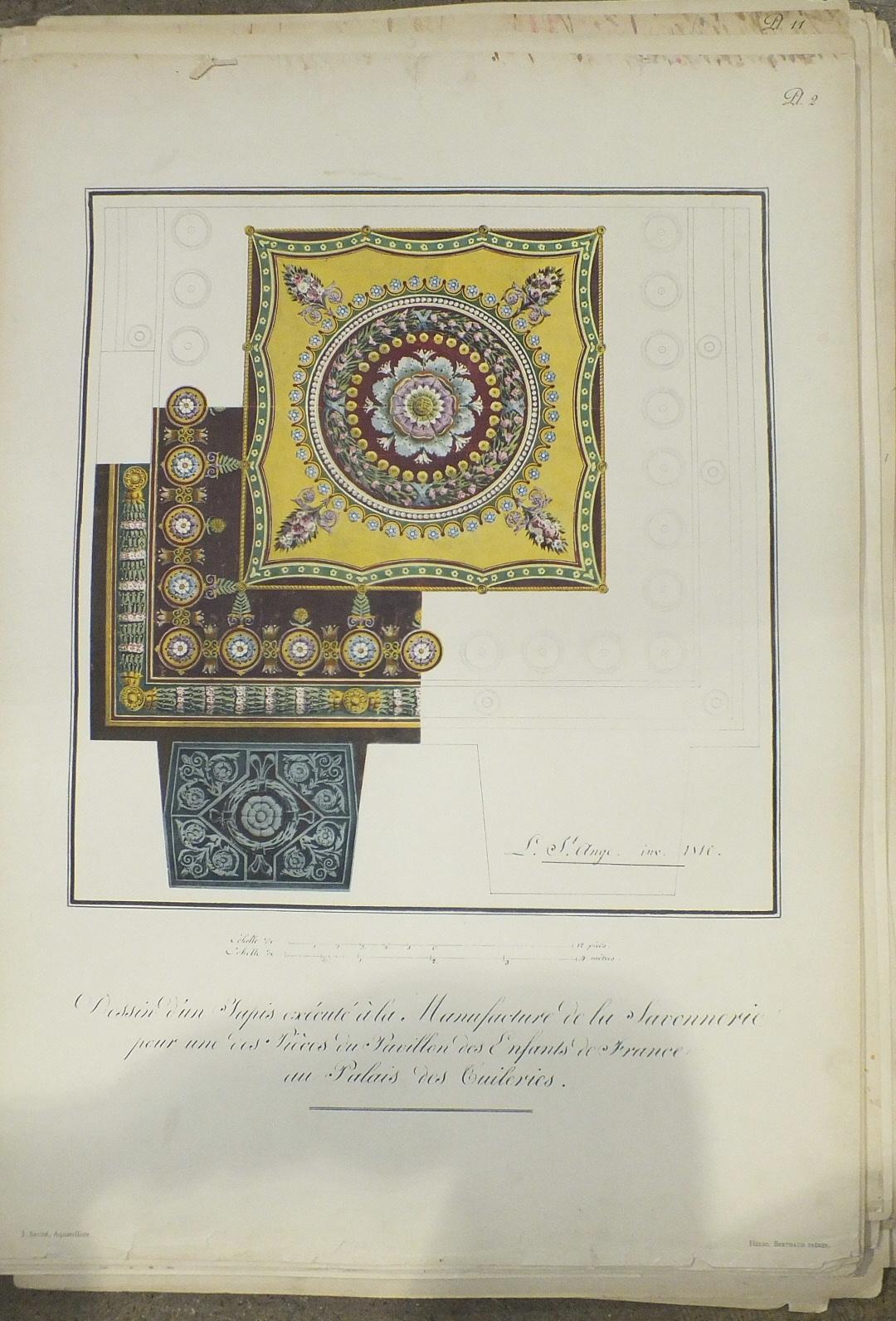 Dumonthier (Ernest), Recueil de Dessins de Tapis et de Tapisseries d'Ameublement du Mobilier de la - Image 2 of 3