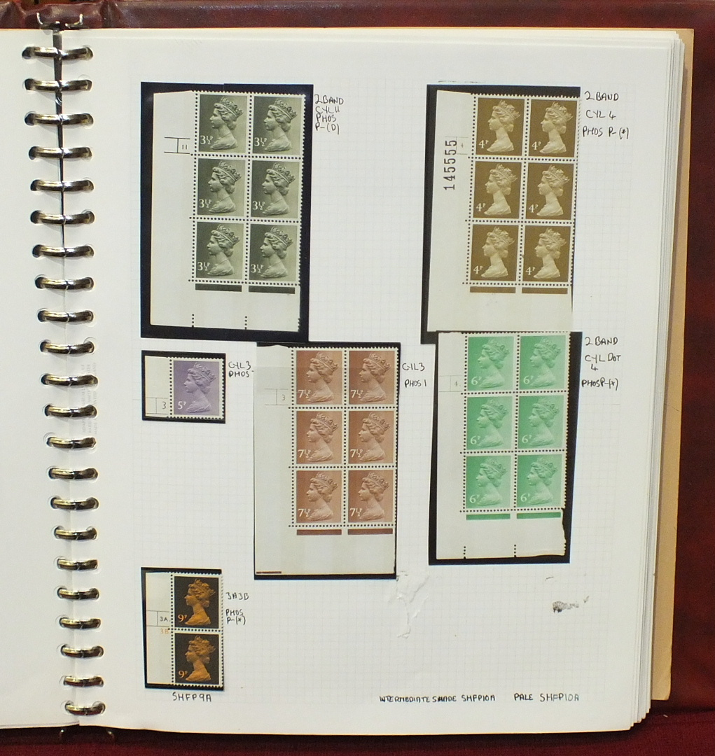A mint specialised collection of Great British Machins in an album. - Image 5 of 8