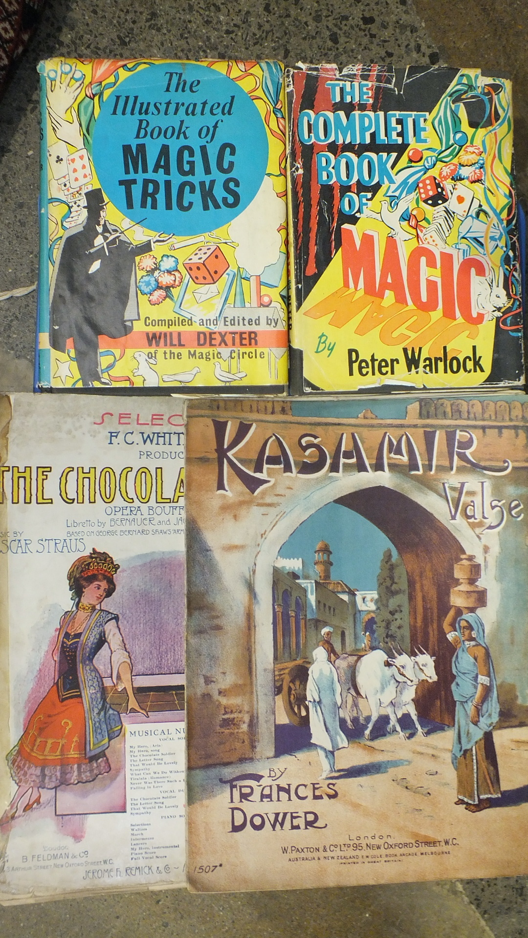 Dexter (Will), The Illustrated Book of Magic Tricks, dwrp, cl, 1957, another, similar and a quantity