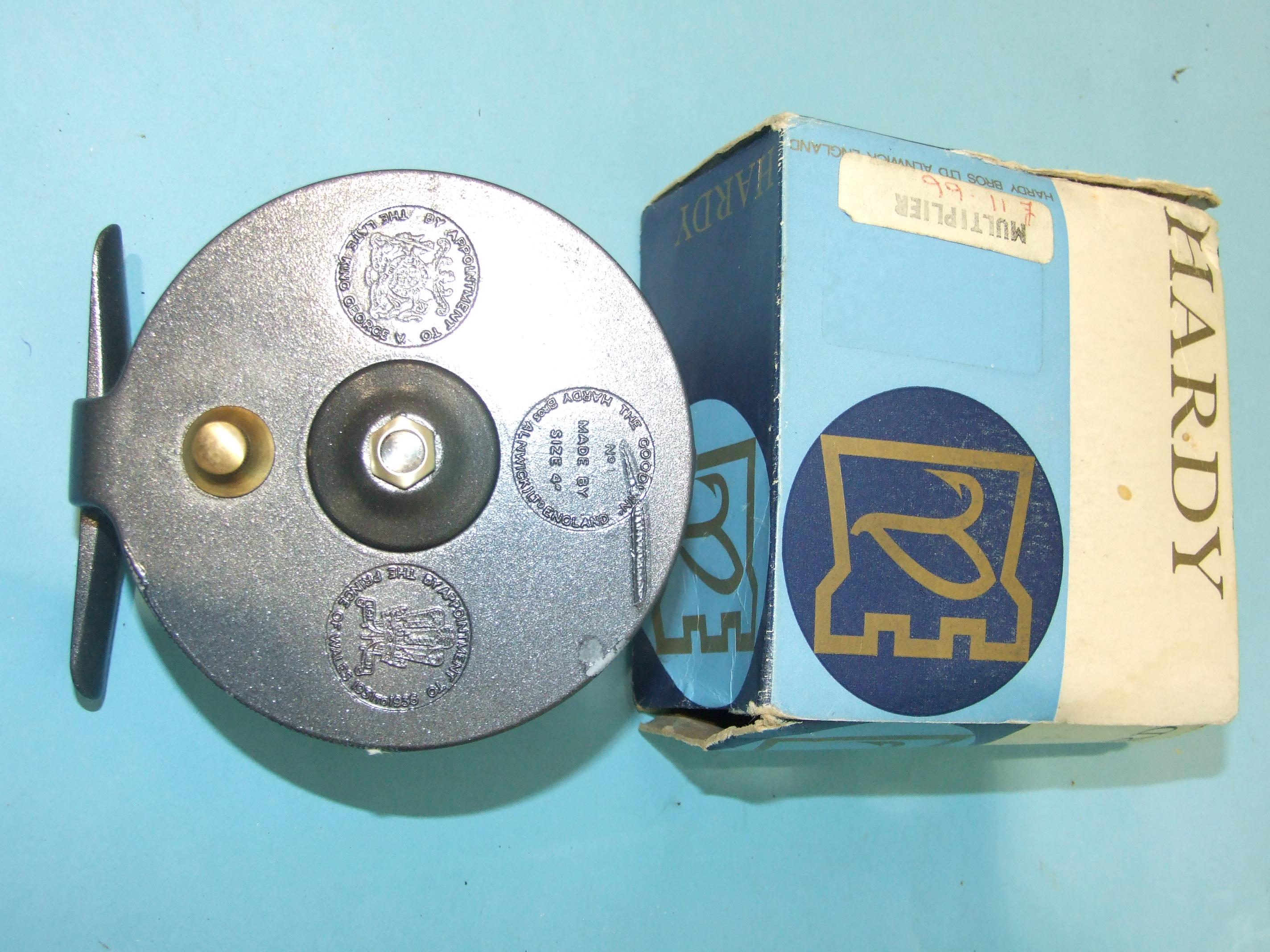 """Lot 416 - A Hardy Bros 4"""" multiplier reel, """"The Goodwin"""", in box, (refinished)."""