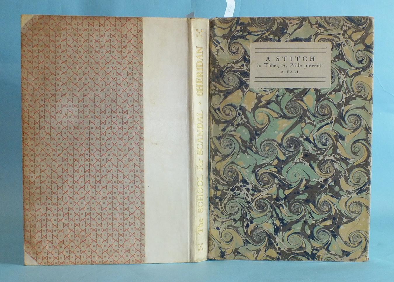 Lot 29 - Shakespeare Head Press; Sheridan (Richard Brinsley), The School for Scandal, illus. Thomas Lowinsky,