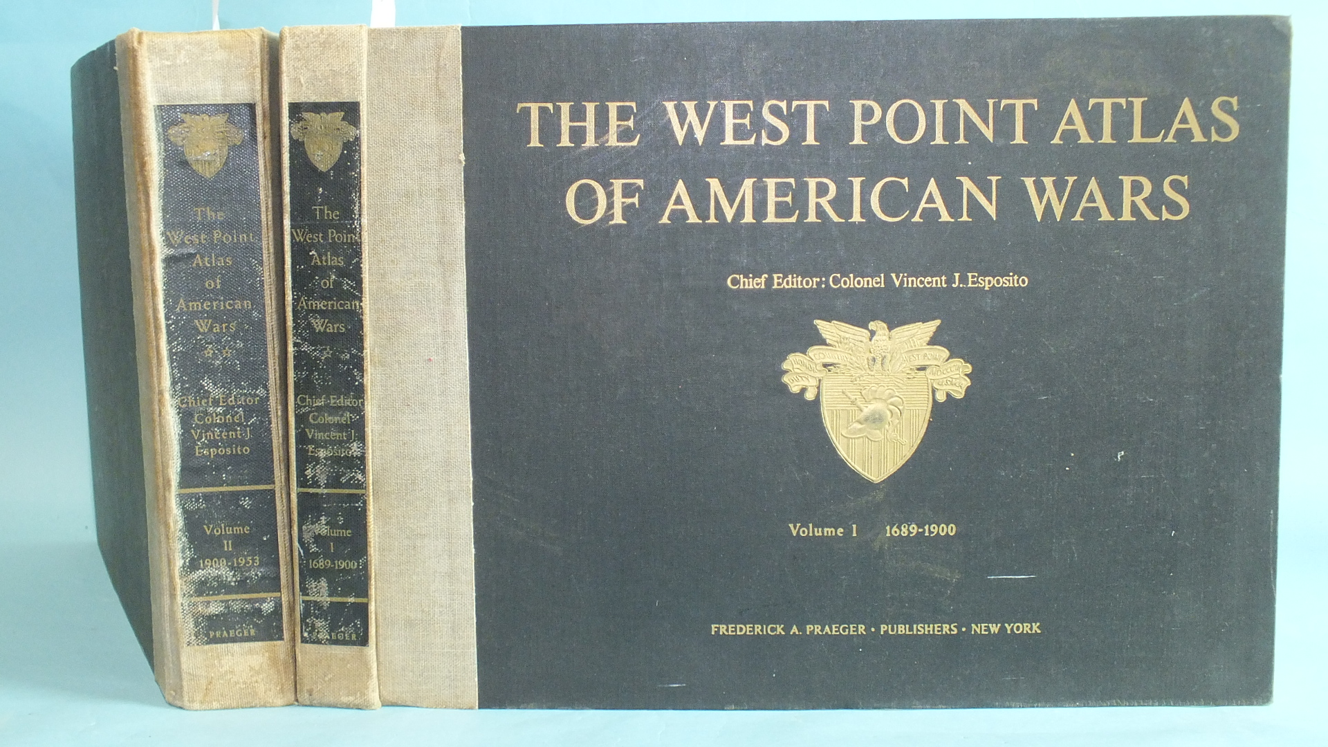 Esposito (Col. Vincent J) (Ed.), The West Point Atlas of American Wars, 2 vols, plts, cl gt, ob 4to,