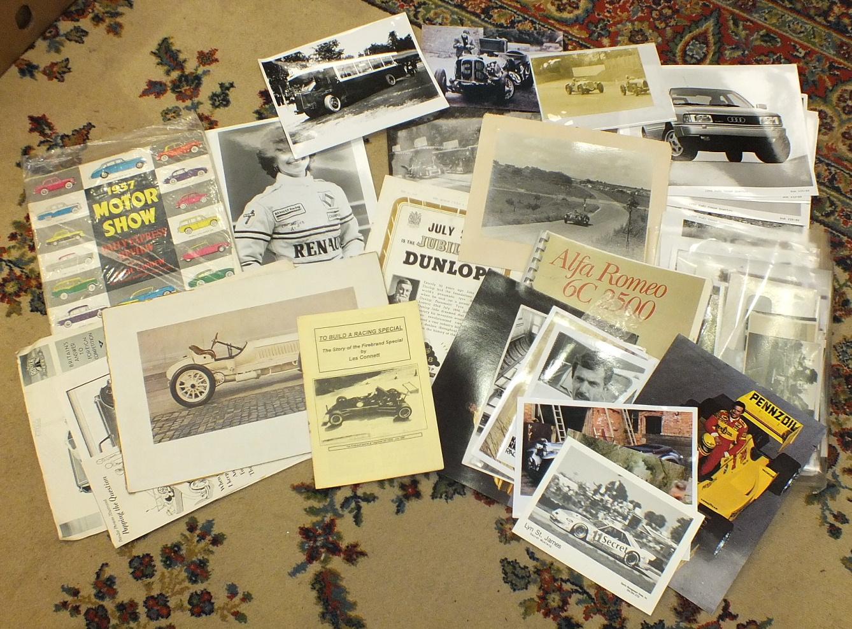 Lot 79 - A quantity of motoring ephemera, including photographs, handbooks, manuals, posters, magazines,