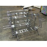 LOT OF 3 ROLLING J STANDS FOR BULK CANDY HEADS