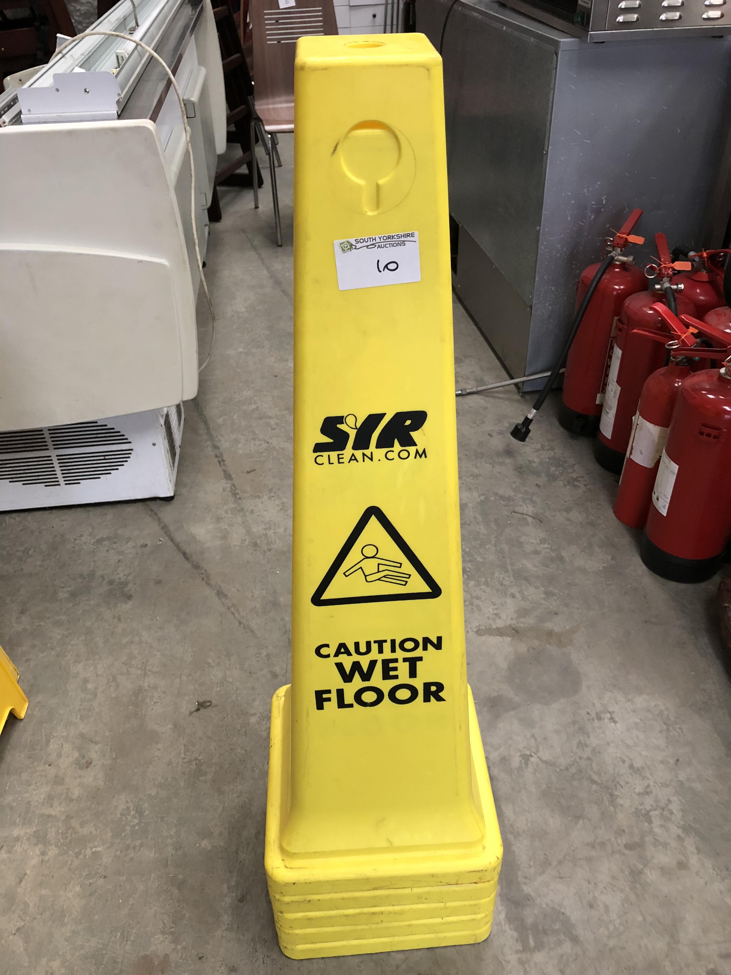 Lot 10 - 5 x Wet Floor Cones