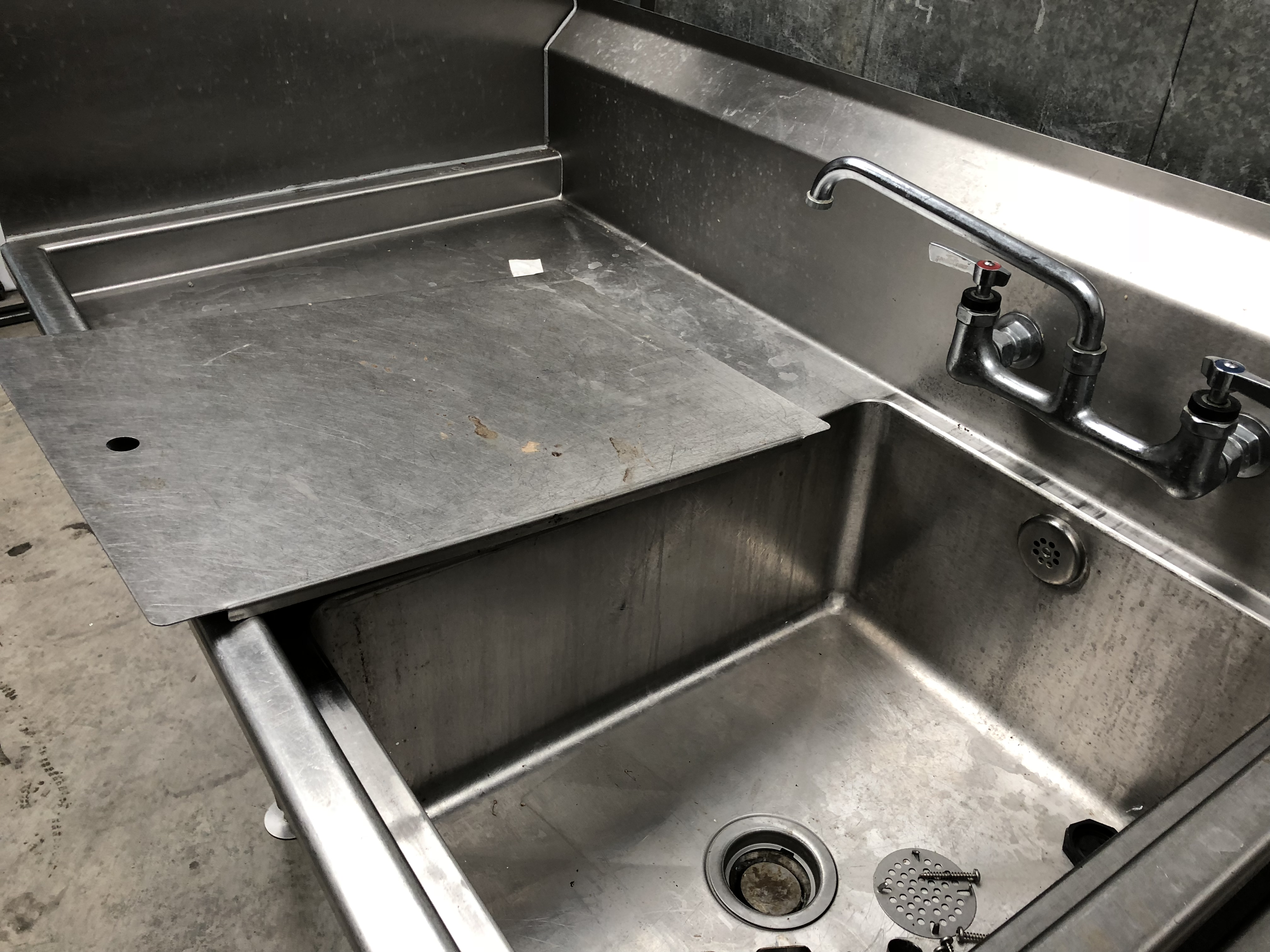 Lot 29 - Stainless Steel Sink Unit with Drainer and Mixer Taps