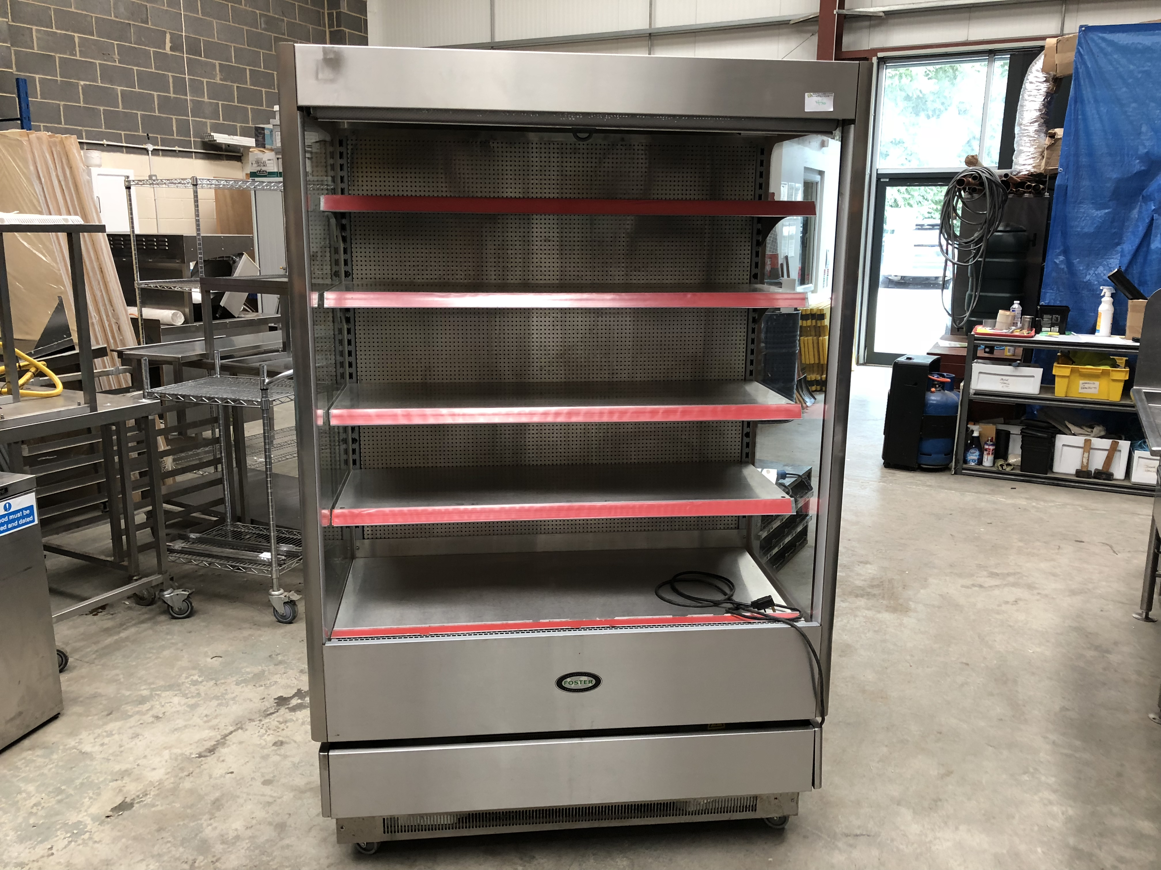 Lot 46 - Fosters Dairy Cabinet on Wheels