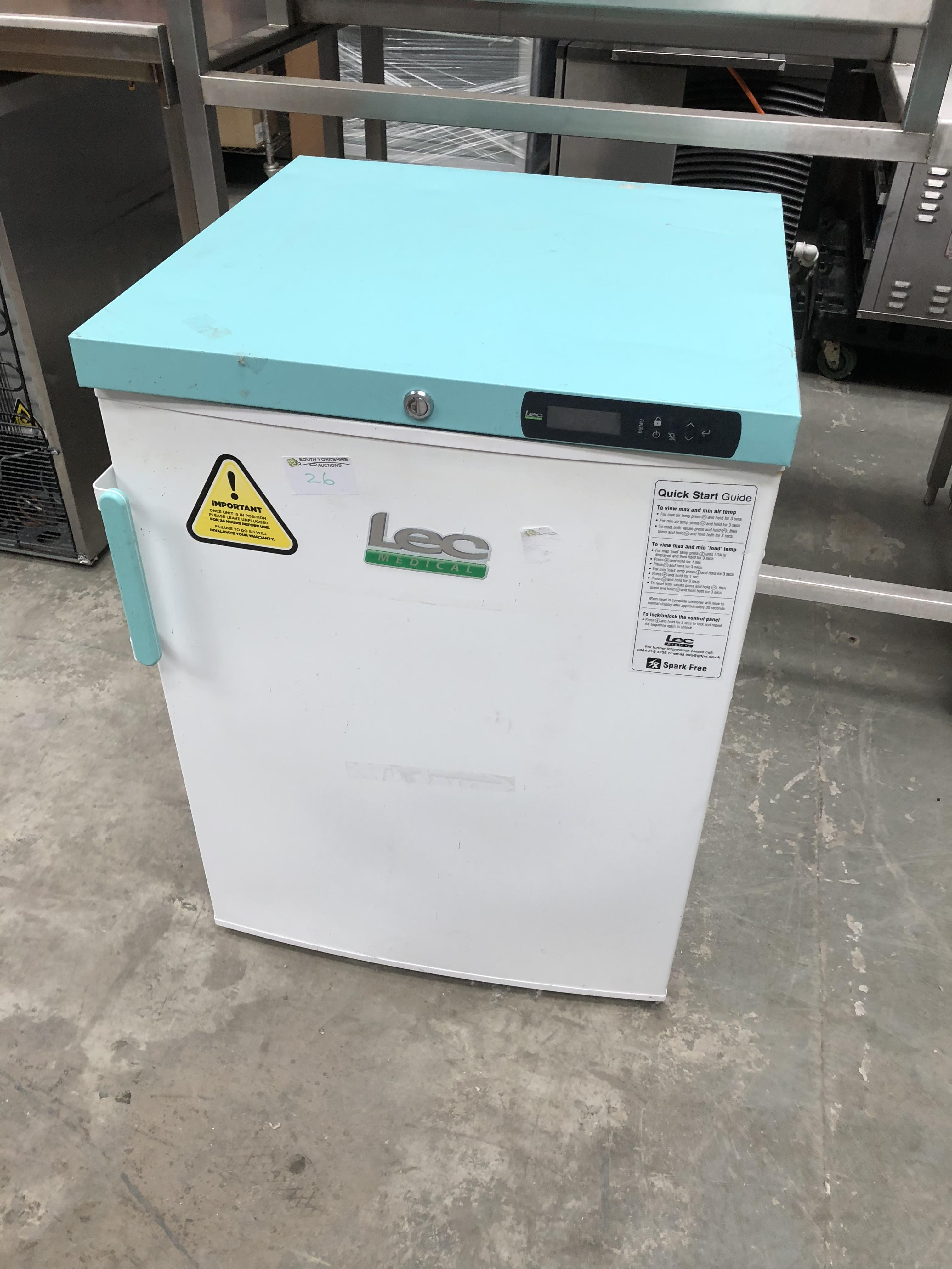 Lot 26 - Lec Under Counter Medical Freezer