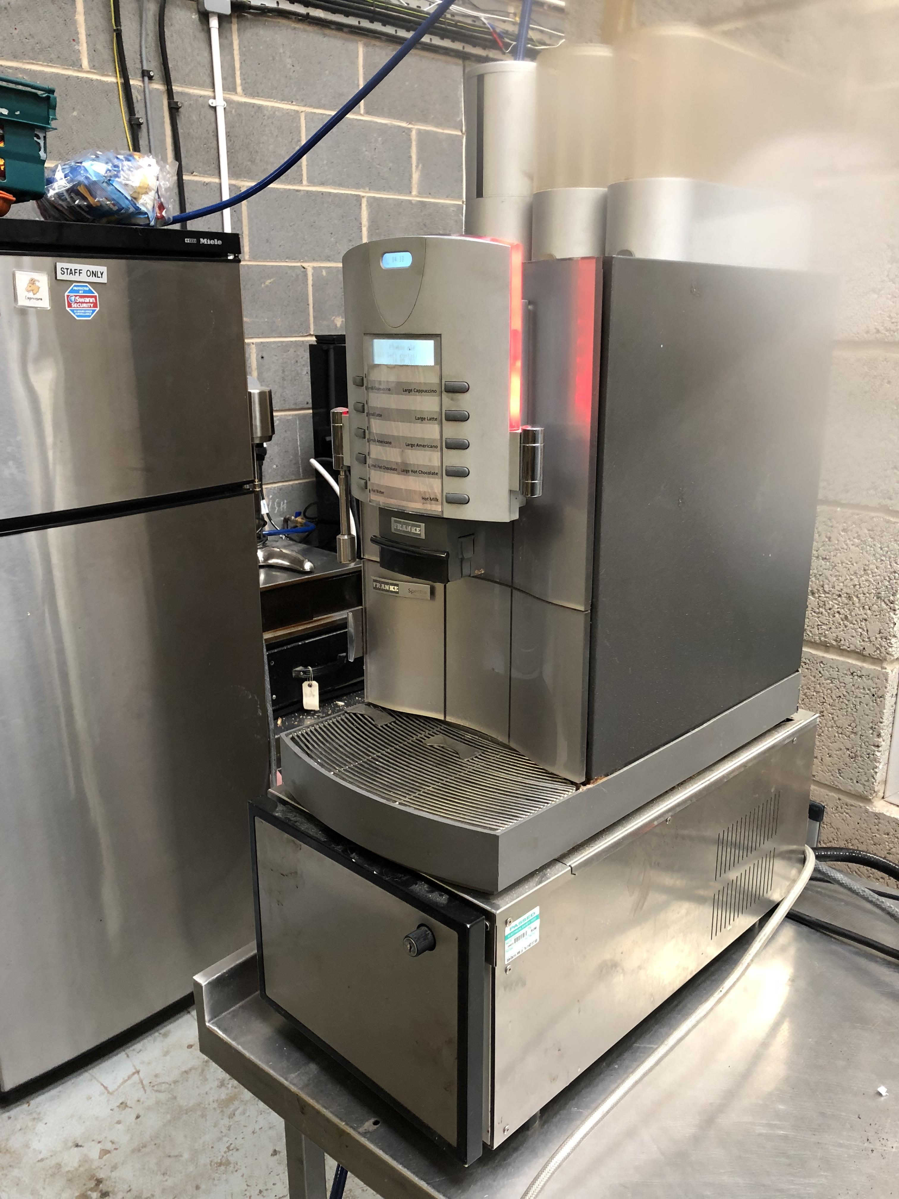 Lot 221 - Franke Spectra Bean To Cup Coffee Machine and Milk Cooler