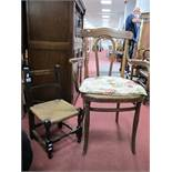 Thonet Bentwood Armchair; child's chair. (2)