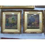 A Pair of Early XX Century Oil Paintings of Still Life Fruit, in period frames by Hibbert Bros,