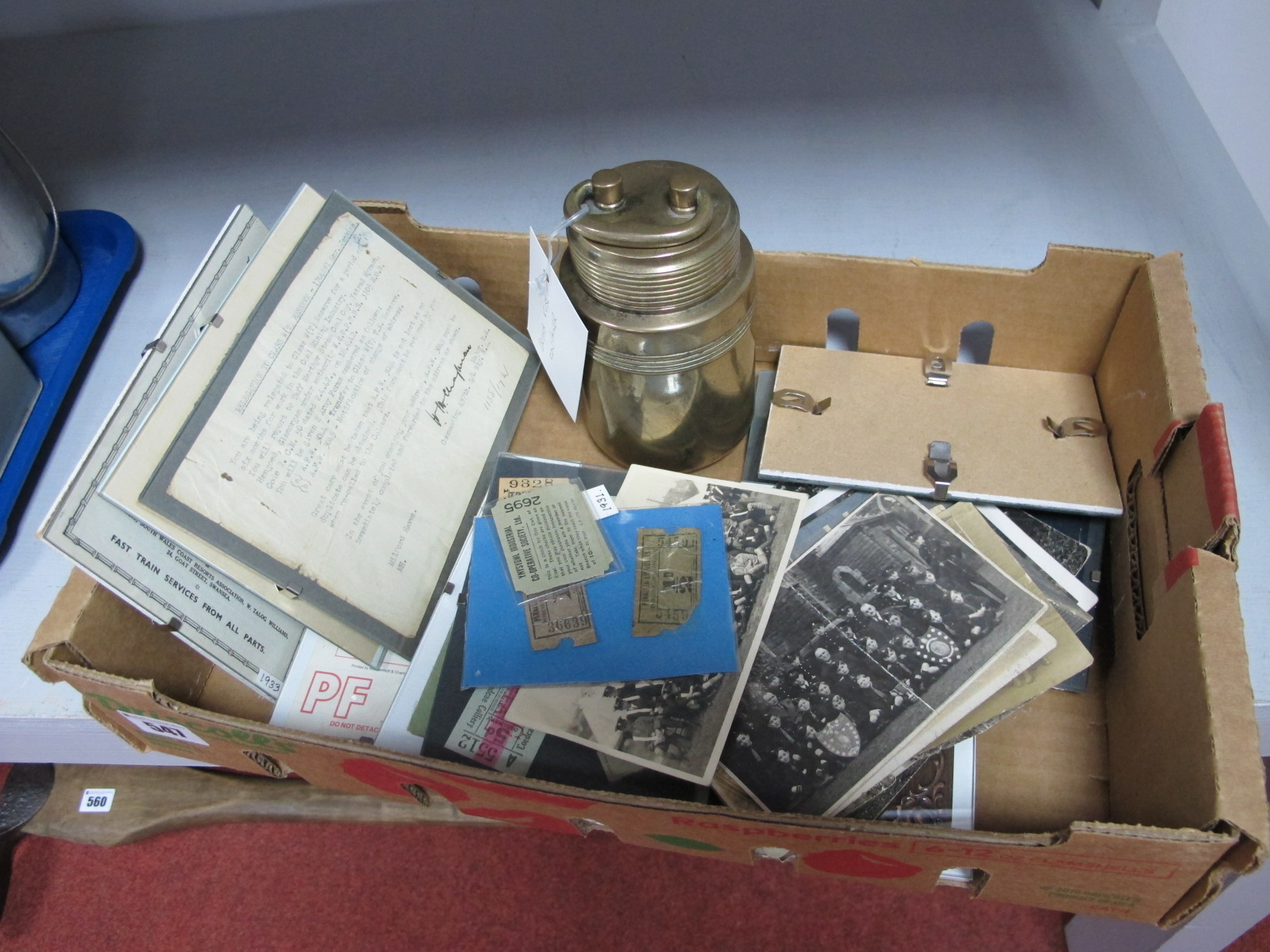 Mining Paper Ephemera. Including Postcards, NUM Membership Cards, Railway Tickets; together with