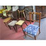 Beech Bergeres Chair, with lyre back; three others. (4)