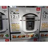 | 1X | PRESSURE KING PRO 12 IN 1 DIGITAL PRESSURE AND MULTI COOKER SILVER | REFURBISHED AND